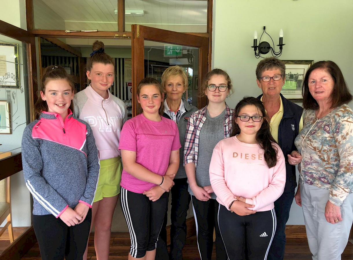Nenagh Golf Club Junior Girls who participated in the Junior Girls Lady Presidents Prize.